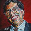 "Naheed Nenshi No. 6, 12"" x 12"", acrylic on canvas"