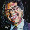 "Naheed Nenshi No. 7, 12"" x 12"", acrylic on canvas"