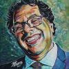 "Naheed Nenshi No. 8, 12"" x 12"", acrylic on canvas"