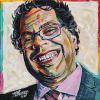 "Naheed Nenshi No. 9, 12"" x 12"", acrylic on canvas"