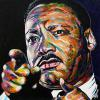 "Martin Luther King, Jr., 20"" x 20"", acrylic on canvas"