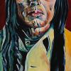 "Chief Poundmaker, 10"" x 20"", acrylic on canvas"