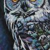 "Owl No. 2, 10"" x 20"", acrylic on canvas"