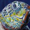 "Sea Turtle No. 2, 18"" x 24"", acrylic on canvas"