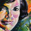 "Jackie Kennedy, 12"" x 24"", acrylic on canvas"