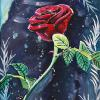 "A rose by any other name, 10"" x 20"", acrylic on canvas"
