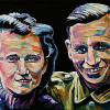 "Anna and Heinz Wilhelm, 12"" x 24"", acrylic on canvas"