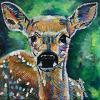 "Fawn, 12"" x 12"", acrylic on canvas"