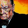 "Winston Churchill, 24"" x 48"", acrylic on canvas"