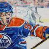 "Connor McDavid, 24"" x 48"", acrylic on canvas"