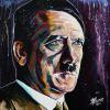"Adolf Hitler, 16"" x 16"", acrylic on canvas"