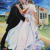 "Wedding at Cibo, 30"" x 40"", acrylic on canvas"