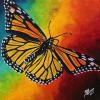 "Monarch Butterfly, 16"" x 16"", acrylic on canvas"
