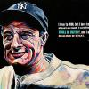 "Lou Gehrig, 20"" x 30"", acrylic on canvas"