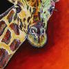 "Giraffe, 15"" x 30"", acrylic on canvas"