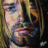 "Kurt Cobain, 16"" x 16"", acrylic on canvas"