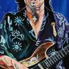 "Stevie Ray Vaughan, 18"" x 36"", acrylic on canvas"