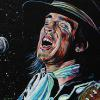 "Stevie Ray Vaughan sings, 18"" x 24"", acrylic on canvas"