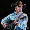 "George Strait, 24"" x 24"", acrylic on canvas"