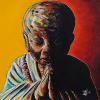"Buddha No. 4, 16"" x 16"", acrylic on canvas"
