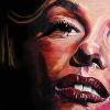 "Marilyn Monroe (painting live at Talitha's Hope 4 a Cure), 18"" x 36"", acrylic on canvas"