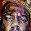 "Notorious B.I.G., 18"" x 36"", acrylic on canvas"
