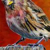 "The Redpoll, 20"" x 30"", acrylic on canvas (painting live at The Redpoll Centre on Nov. 15, 2017)"