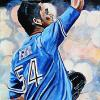 "Roberto Osuna, 12"" x 24"", acrylic on canvas"