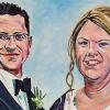 "Bobby and Meghan MacDonald, 12"" x 24"", acrylic on canvas"