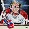 "Guy Lafleur, 16"" x 16"", acrylic on canvas"