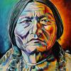 "Chief Sitting Bull, 16"" x 20"", acrylic on canvas"