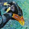 "Mynah Bird, 12"" x 12"", acrylic on canvas"