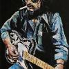 "Waylon Jennings, 24"" x 36"", acrylic knife painting on canvas"
