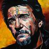 "Waylon Jennings, 18"" x 24"", acrylic on canvas"
