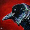 "Mark Amy Raven, 20"" x 20"", acrylic on canvas"