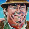 "John Candy, 10"" x 20"", acrylic on canvas"