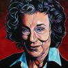 "Margaret Atwood, 16"" x 20"", acrylic on canvas"