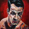 "Gordie Howe, 16"" x 16"", acrylic on canvas"