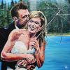 "Norman and Shantelle, 30"" x 30"", acrylic on canvas"