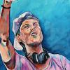 "Avicii, 15"" x 30"", acrylic on canvas"