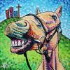"Happy Horse, 24"" x 24"", acrylic on canvas"