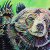 "Beau the Bear, 20"" x 30"", acrylic on canvas"