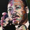 "Martin Luther King Jr., 12"" x 16"", acrylic on canvas"
