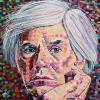 "Andy Warhol, 20"" x 20"", acrylic on canvas"