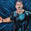 "Tony Robbins, 18"" x 24"", acrylic on canvas"