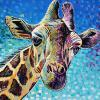 "Sister Mary Phillips Giraffe, 18"" x 24"", acrylic on canvas"