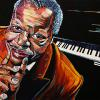 "Oscar Peterson, 24"" x 36"", acrylic on canvas"