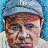 "Babe Ruth, 24"" x 24"", acrylic on canvas"