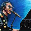 "Elton John, 24"" x 36"", acrylic on canvas"