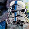 "Stormtrooper, 12"" x 24"", acrylic on canvas"